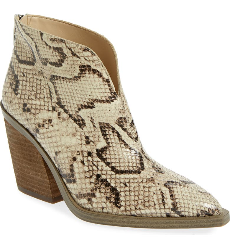 VINCE CAMUTO Ginsel Bootie, Main, color, SNAKE PRINT LEATHER