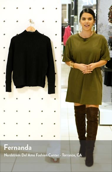 Mock Neck Crop Sweater, sales video thumbnail