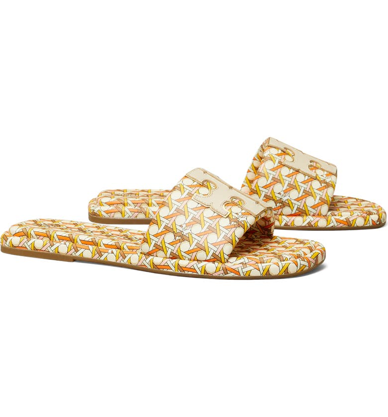TORY BURCH Double T Sport Slide Sandal, Main, color, PINK/ IVORY/ GOLD