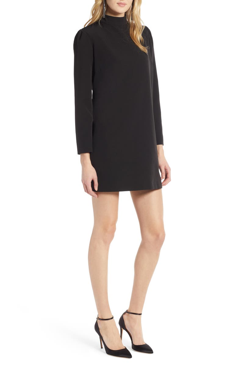 HALOGEN<SUP>®</SUP> Halogen Bow Back Ponte Shift Dress, Main, color, 001