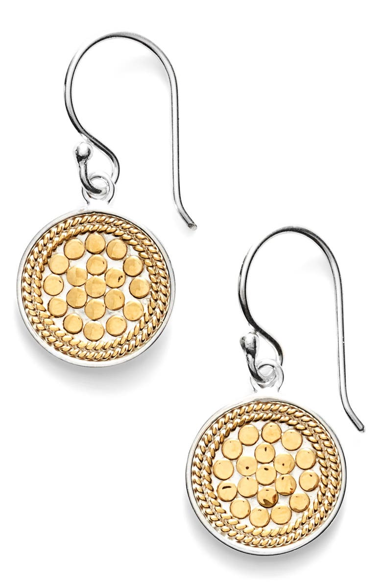 ANNA BECK Small Drop Earrings, Main, color, GOLD/ SILVER