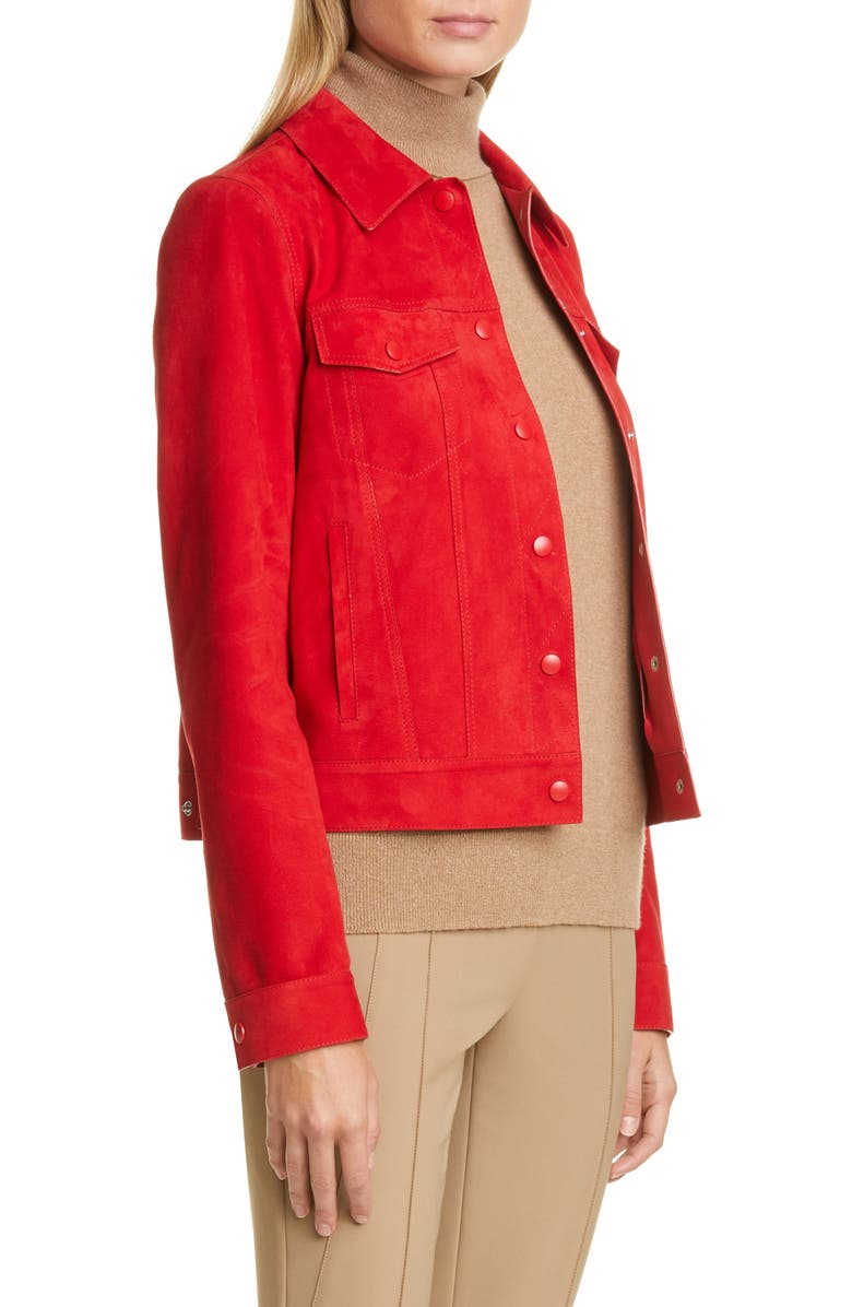 LAFAYETTE 148 NEW YORK Destiny Suede Jacket, Main, color, 600