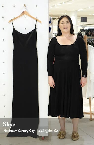The Gina Backless Trumpet Gown, sales video thumbnail