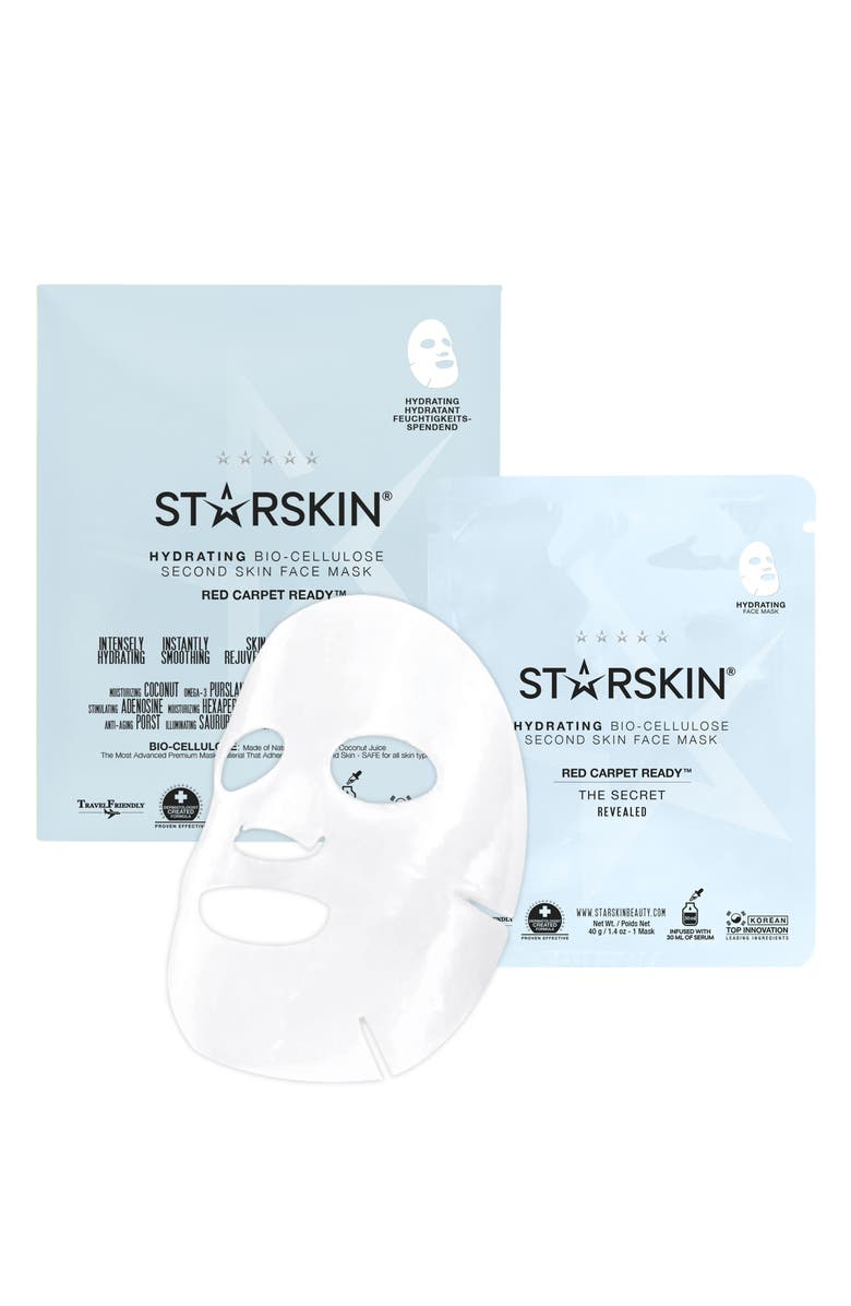 STARSKIN <sup>®</sup> Red Carpet Ready Hydrating Bio-Cellulose Second Skin Face Mask, Main, color, NO COLOR