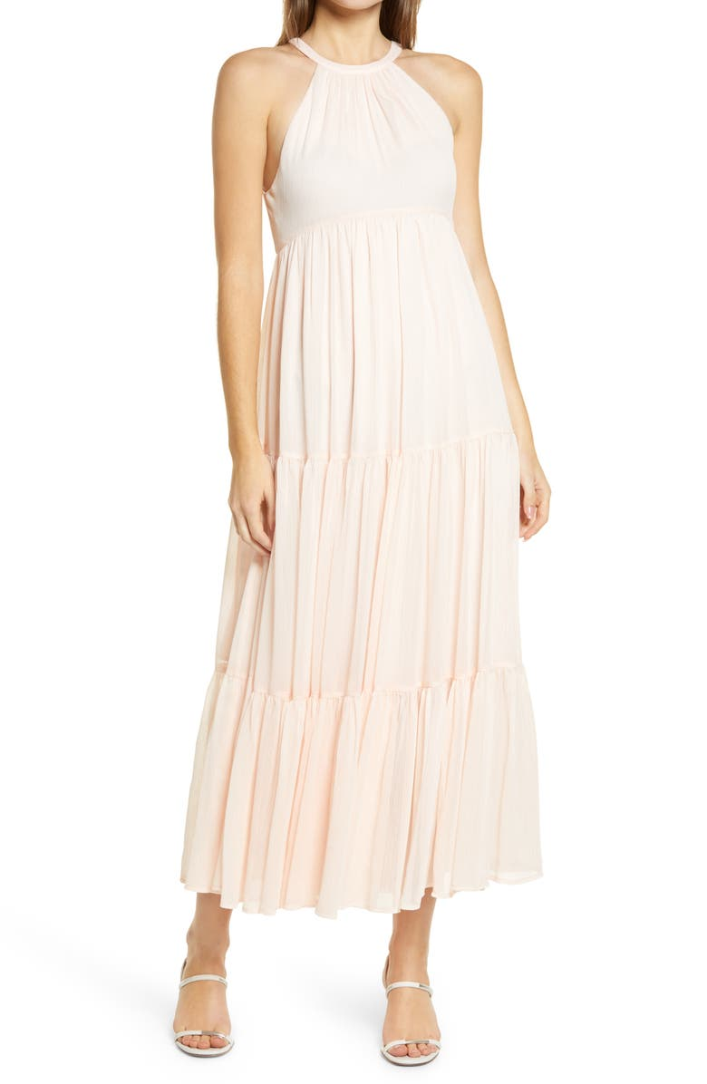 CHELSEA28 Tiered Chiffon Dress, Main, color, PINK CREOLE