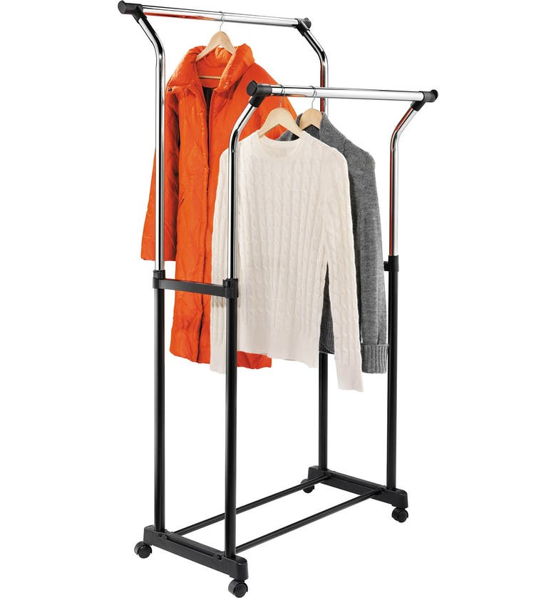 HONEY-CAN-DO Adjustable Height Flared Garment Rack, Main, color, NONE