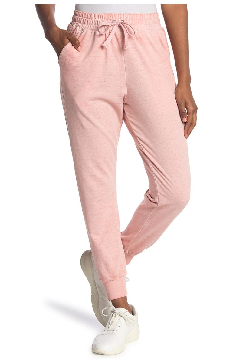 C AND C CALIFORNIA Knit Joggers, Main, color, MISTY ROSE