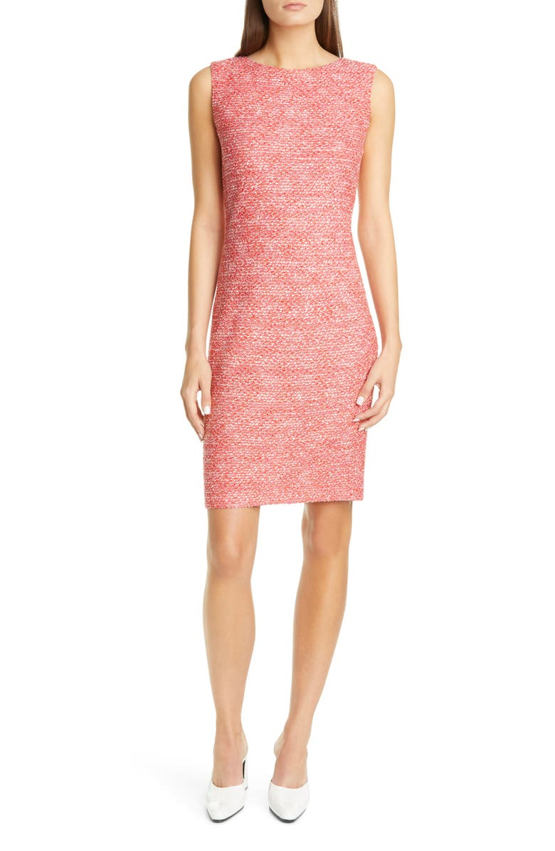 ST. JOHN COLLECTION Marled Space Dyed Tweed Knit Dress, Main, color, 800