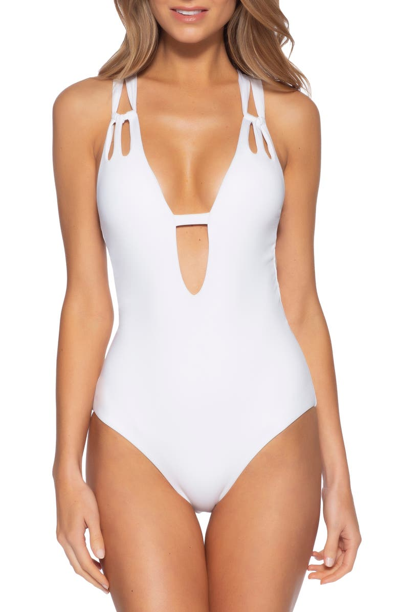 BECCA Color Code One-Piece Swimsuit, Main, color, 100
