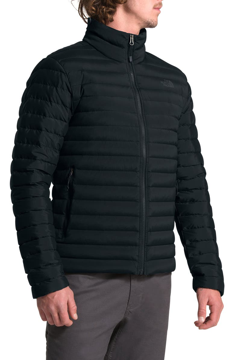 THE NORTH FACE Packable Slim Fit Stretch Down Jacket, Main, color, TNF BLACK