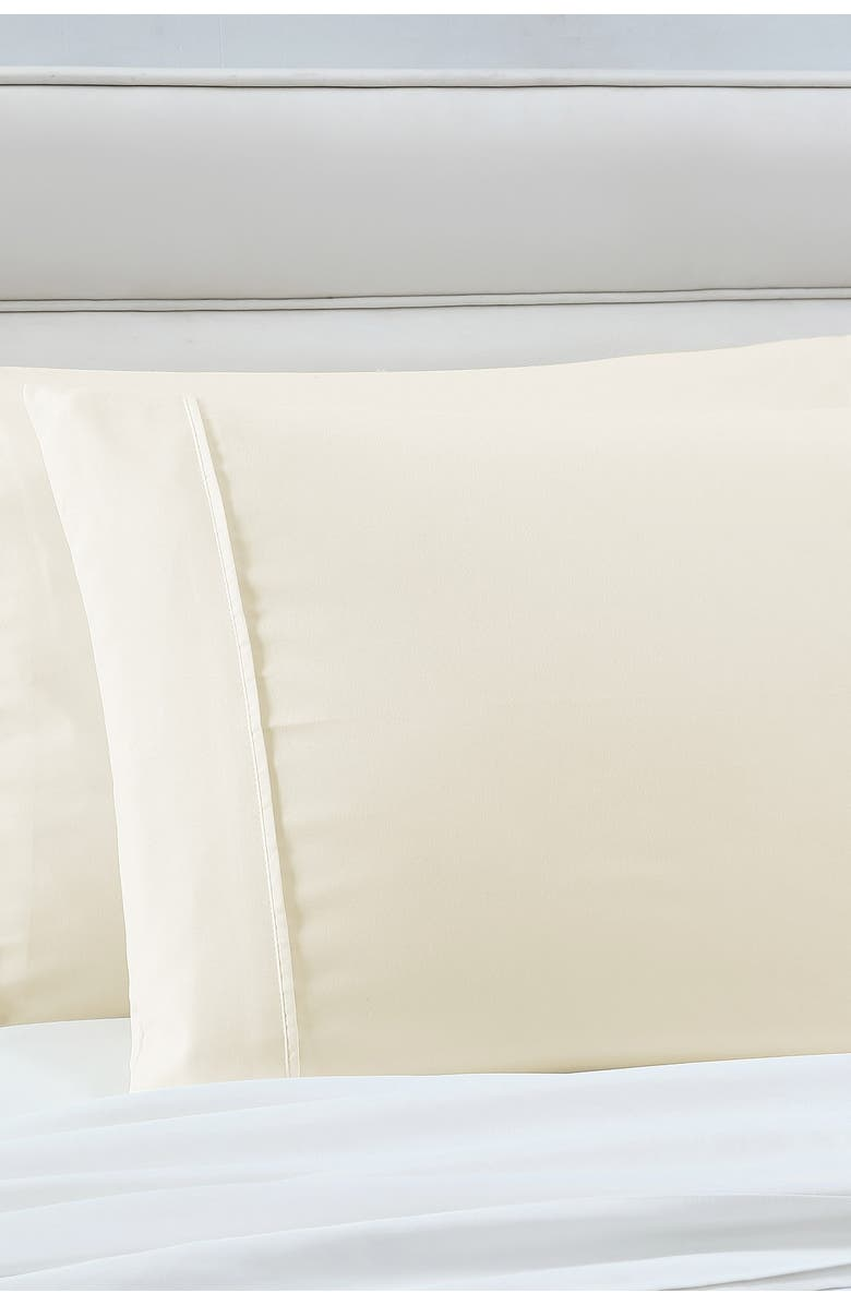 MODERN THREADS Manor Ridge Luxury 100 Gsm Brushed Microfiber Hypoallergenic Pillowcases - Set Of 2 - Ivory - Standard, Main, color, IVORY