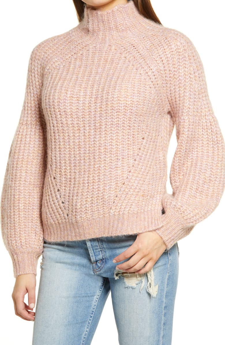ALL IN FAVOR Puff Sleeve Sweater, Main, color, 650