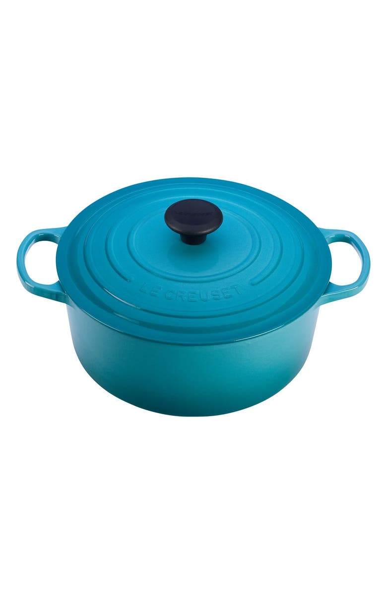 LE CREUSET Signature 7 1/4 Quart Round Enamel Cast Iron French/Dutch Oven, Main, color, 400