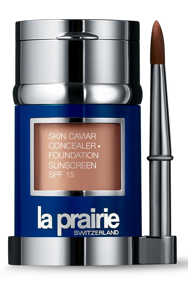 LA PRAIRIE Skin Caviar Concealer + Foundation Sunscreen SPF 15, Main, color, PURE IVORY