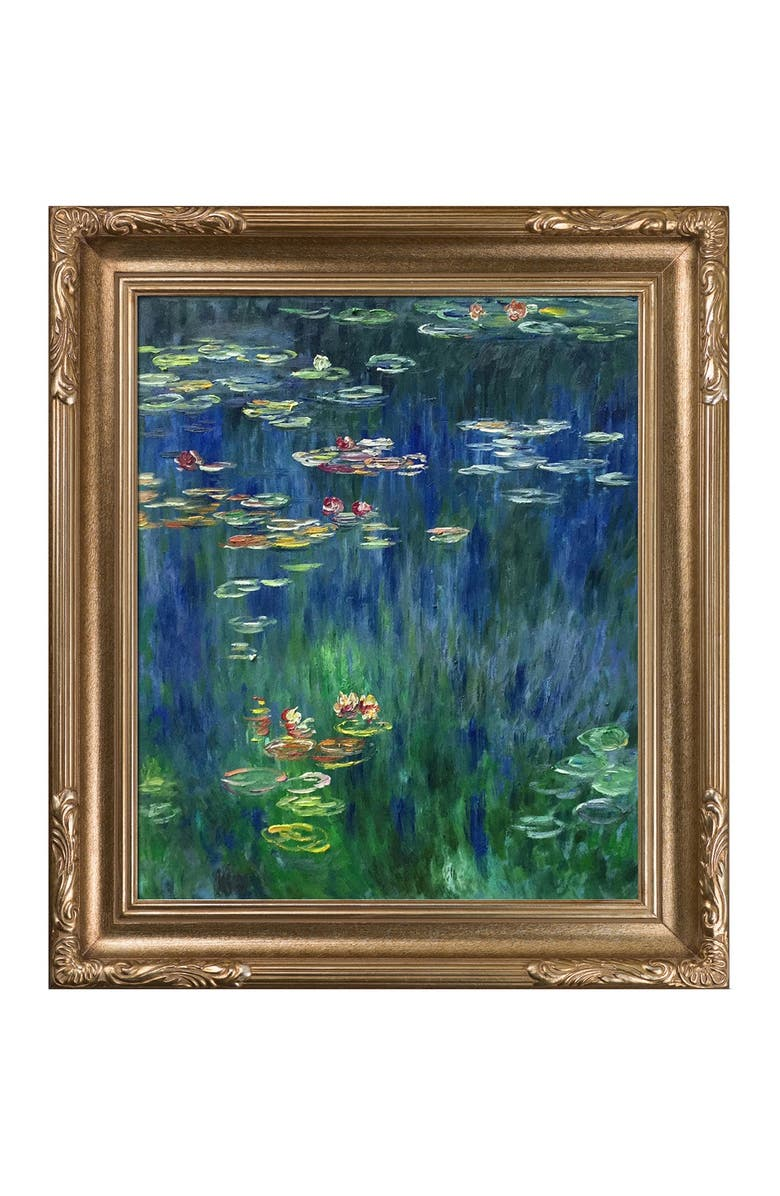 OVERSTOCK ART detail) Framed Oil Reproduction of an Original Painting by Claude Monet, Main, color, MULTI