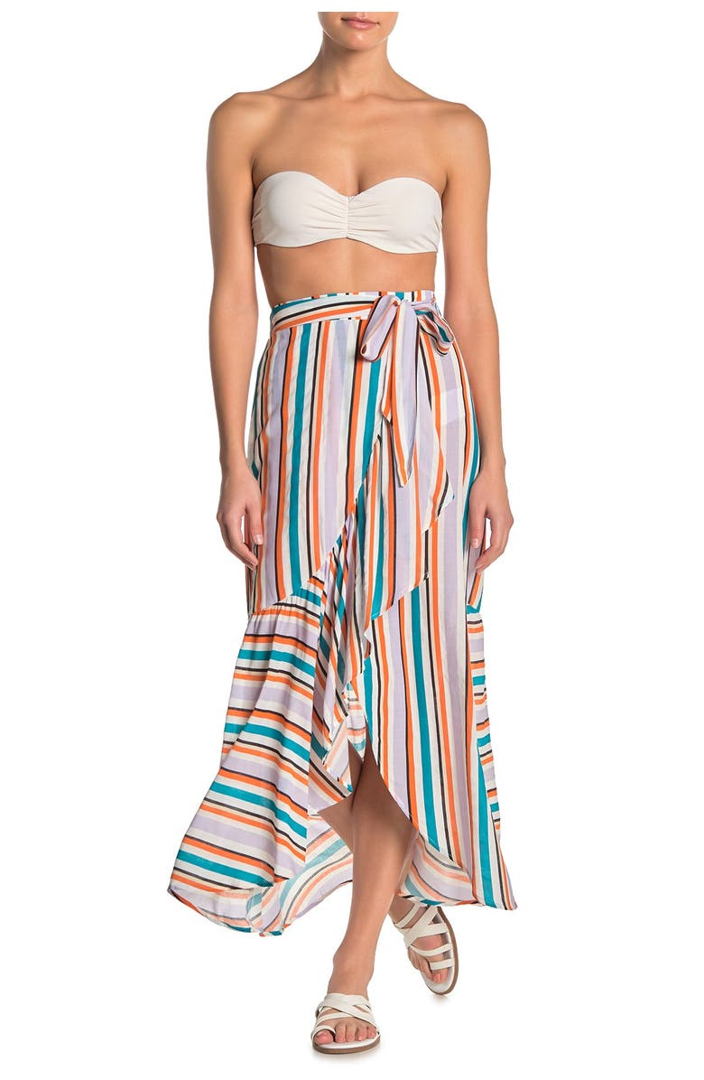 MAAJI Written Sunset Cover-Up Maxi Skirt, Main, color, MULTICOLOR