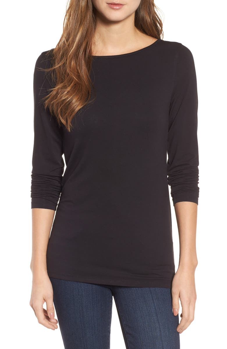 HALOGEN<SUP>®</SUP> Reversible V-Neck Tee, Main, color, 001