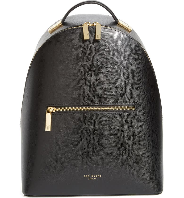 TED BAKER LONDON Mini Jarvis Leather Backpack, Main, color, 001