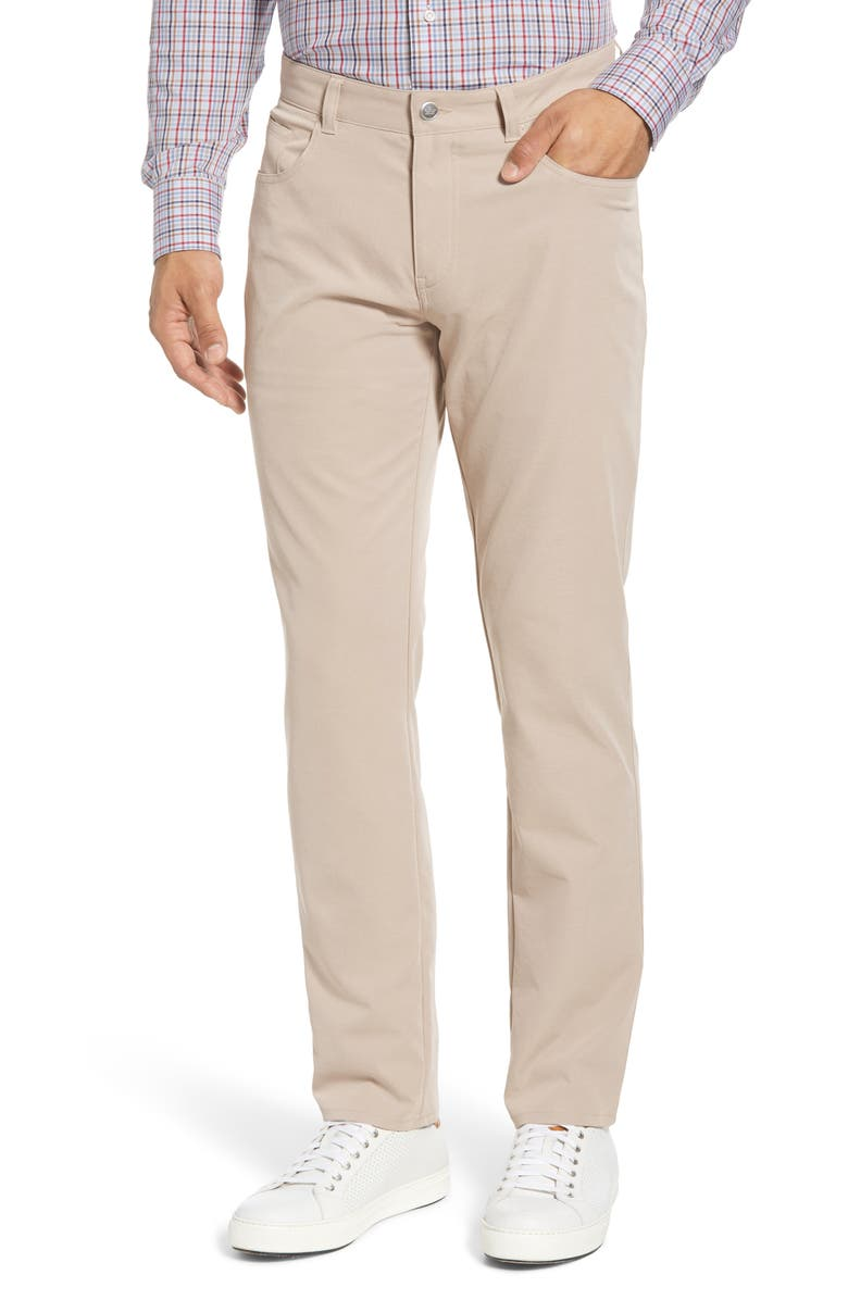 PETER MILLAR eb66 Regular Fit Performance Pants, Main, color, BEIGE