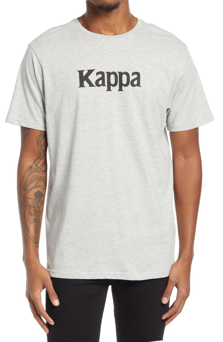 KAPPA Authentic Ruins Graphic Tee, Main, color, GREY MD MEL-BLACK