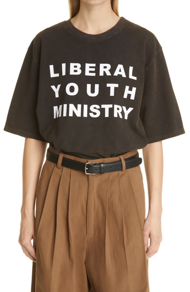 LIBERAL YOUTH MINISTRY Unisex Logo Graphic Tee, Main, color, 001