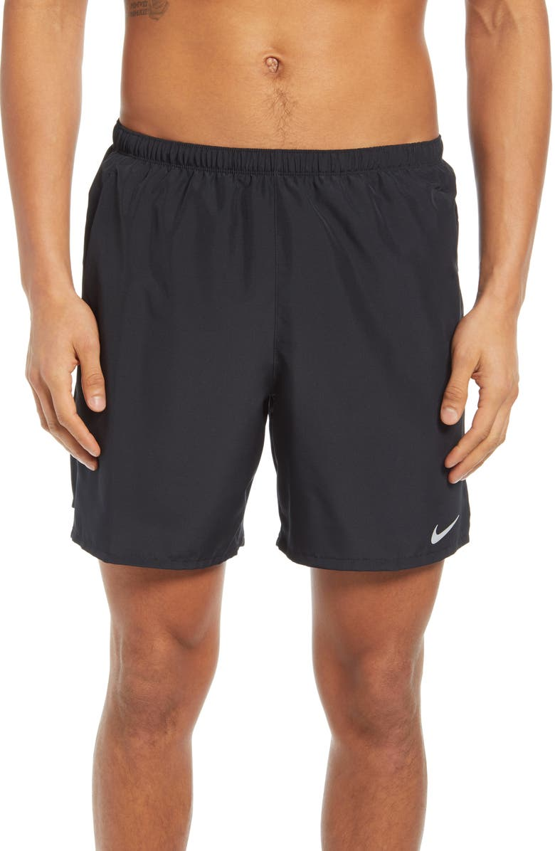 NIKE Dri-FIT Challenger Hybrid Running Shorts, Main, color, BLACK/ REFLECTIVE SILVER