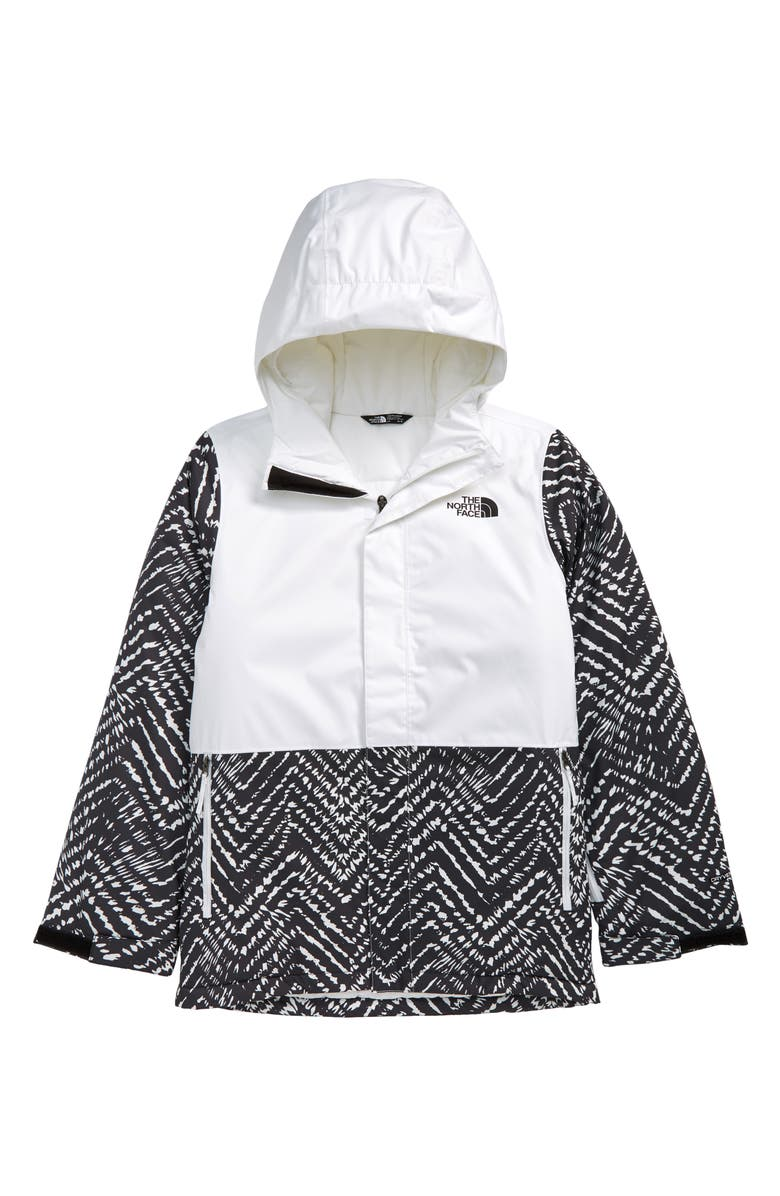THE NORTH FACE Kids' Snow Club Waterproof Insulated Jacket, Main, color, TNF BLACK SHIBORI CHEVRON PRNT