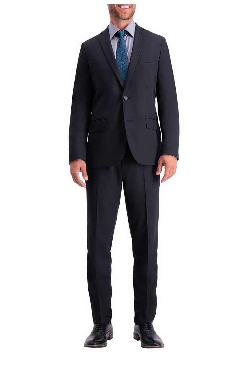 HAGGAR Stretch Solid 4-Way Stretch 2-Button Suit Separate Coat, Main, color, BLACK
