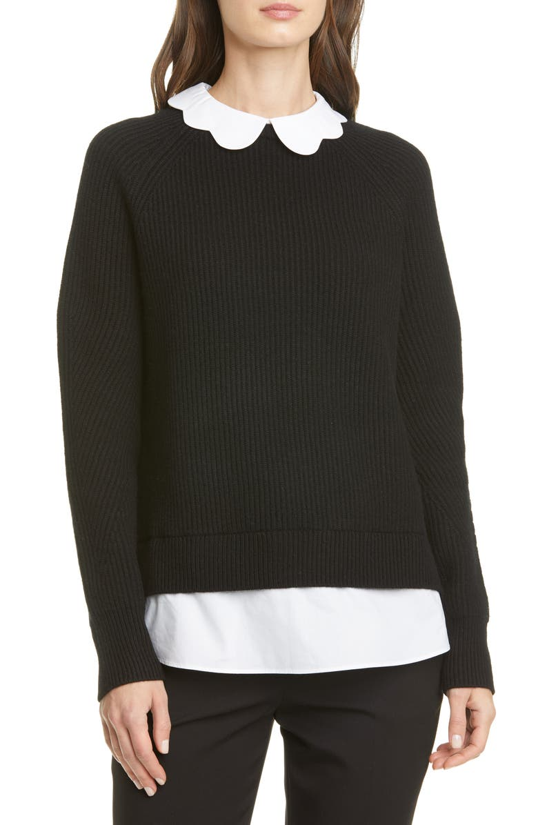 TED BAKER LONDON Chunky Mockable Sweater, Main, color, Black