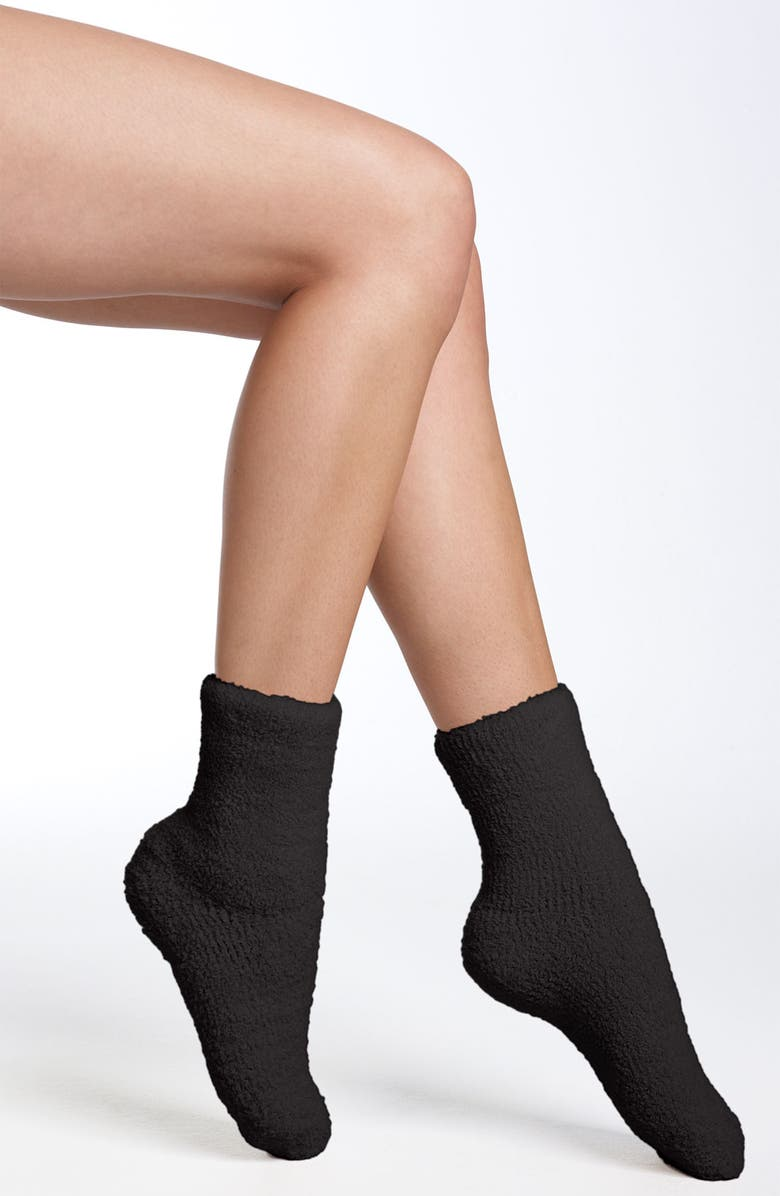 NORDSTROM Butter Crew Socks, Main, color, BLACK