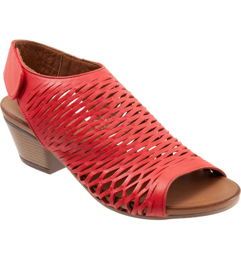 BUENO Lacey Slingback Sandal, Main, color, RED LEATHER