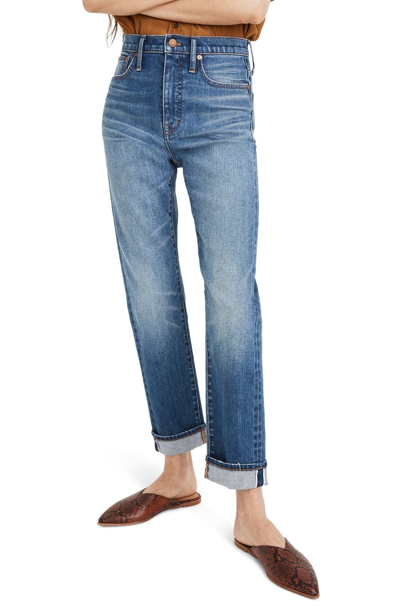 MADEWELL Selvedge Edition Classic Straight Leg Jeans, Main, color, IVES WASH