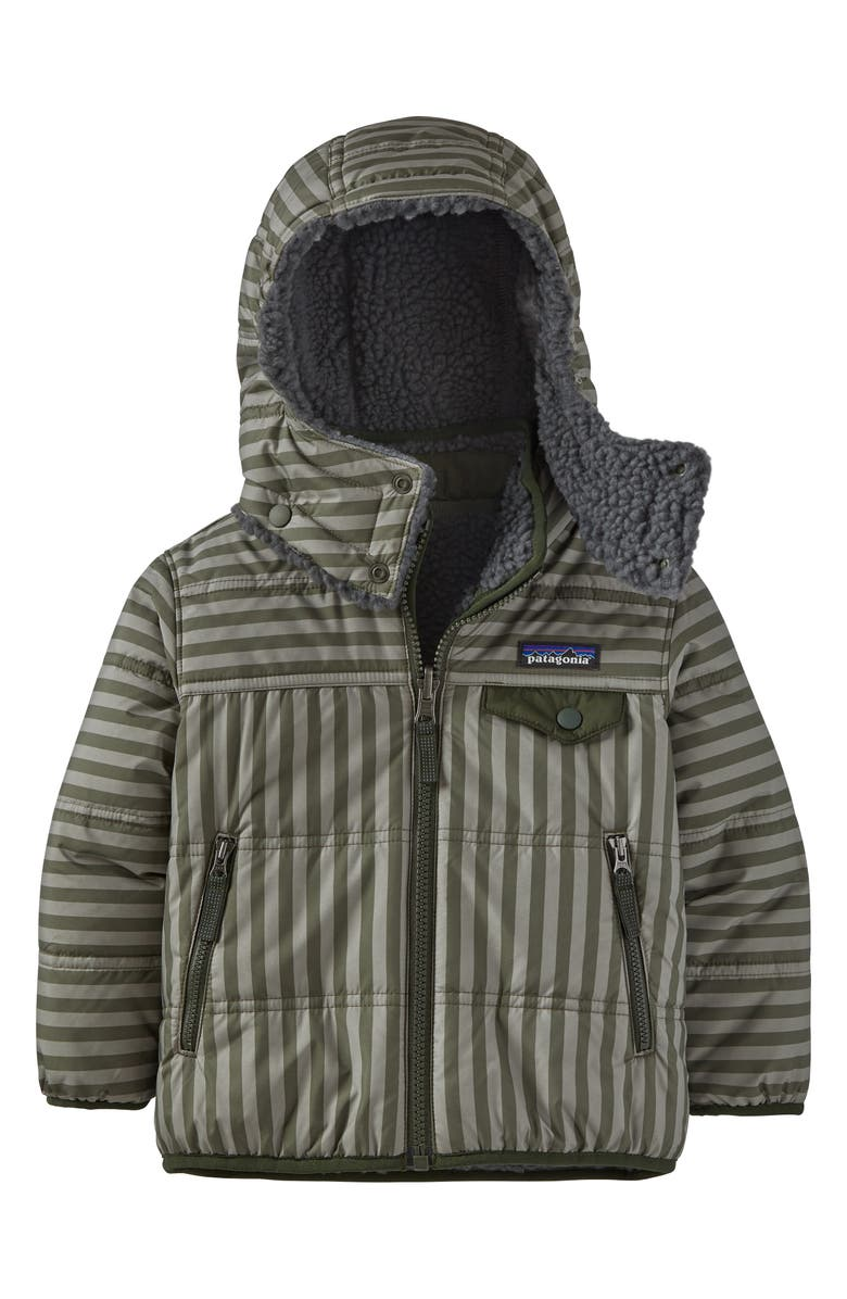 PATAGONIA 'Tribbles' Reversible Water Resistant Snow Jacket, Main, color, STRIPED GARDEN GREEN-STGR