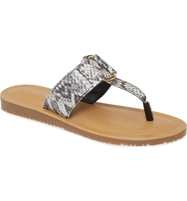 BELLA VITA Italy Flip Flop, Main, color, GREY LEATHER