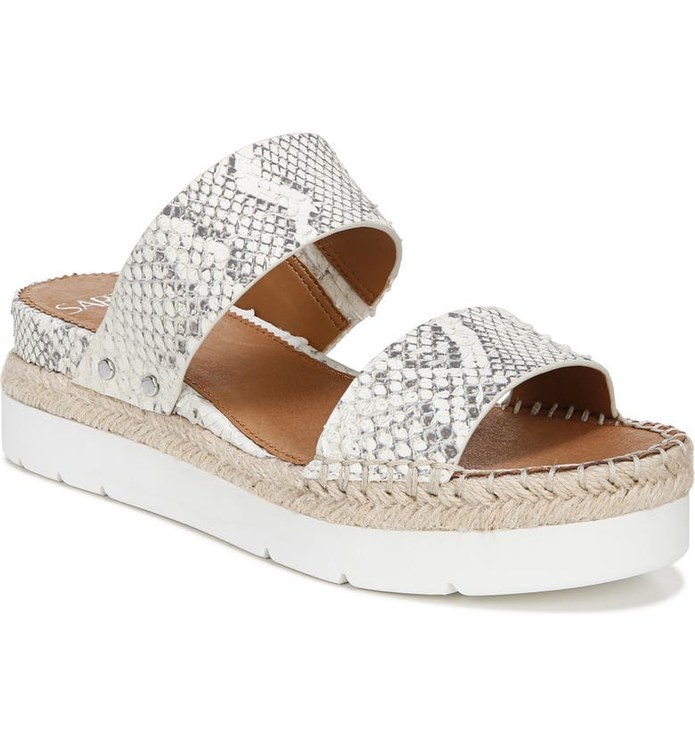 SARTO BY FRANCO SARTO Cappy Wedge Slide Sandal, Main, color, SNAKE PRINT LEATHER
