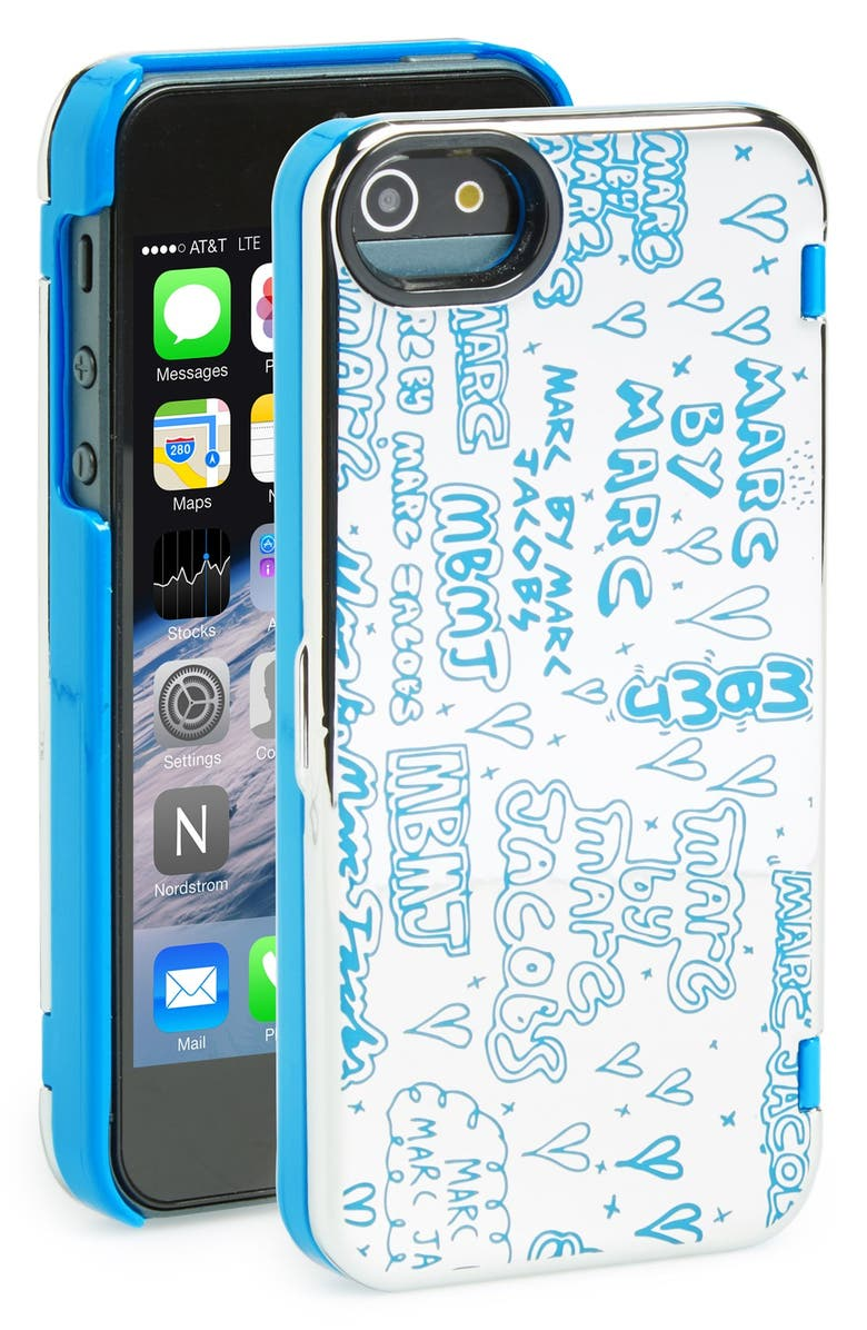 MARC JACOBS MARC BY MARC JACOBS 'Scribble' Mirror iPhone 5 & 5s Case, Main, color, 040