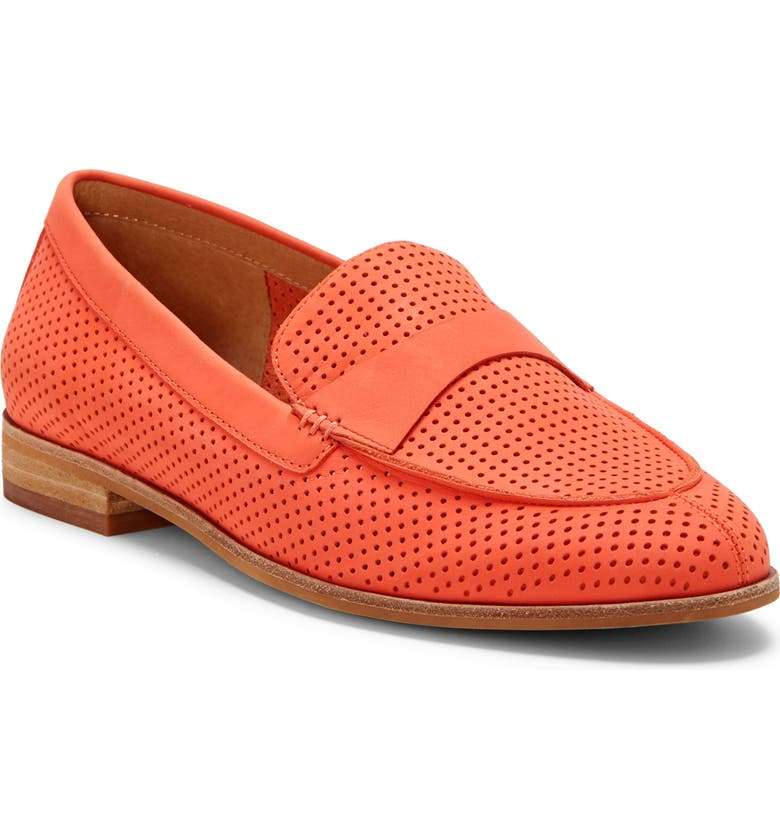 CC CORSO COMO<SUP>®</SUP> Carlynee Loafer, Main, color, CORAL PERFORATED NUBUCK