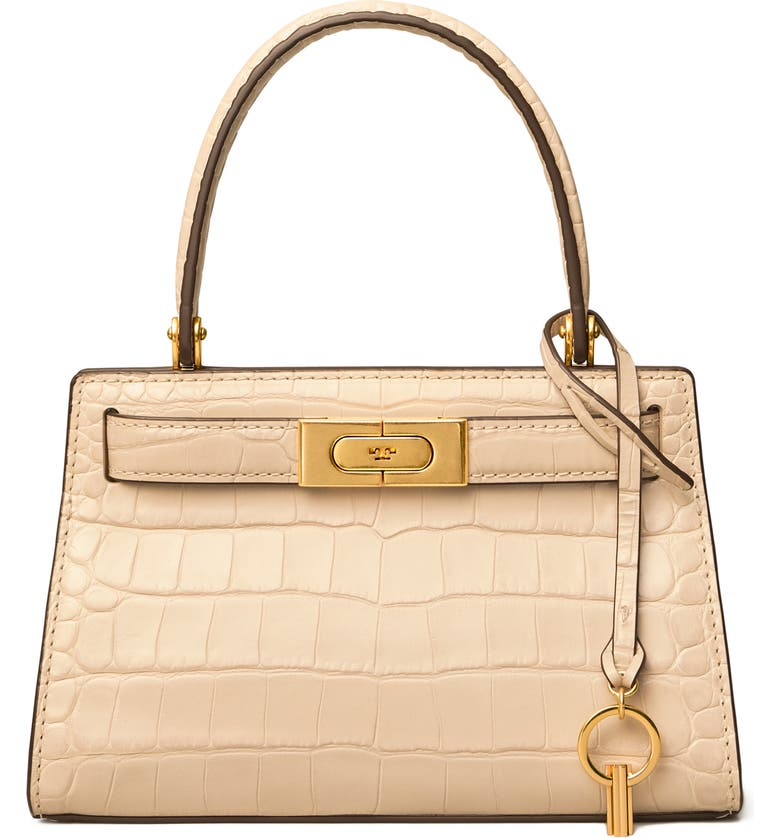 TORY BURCH Lee Radziwill Croc Embossed Leather Tote, Main, color, 270