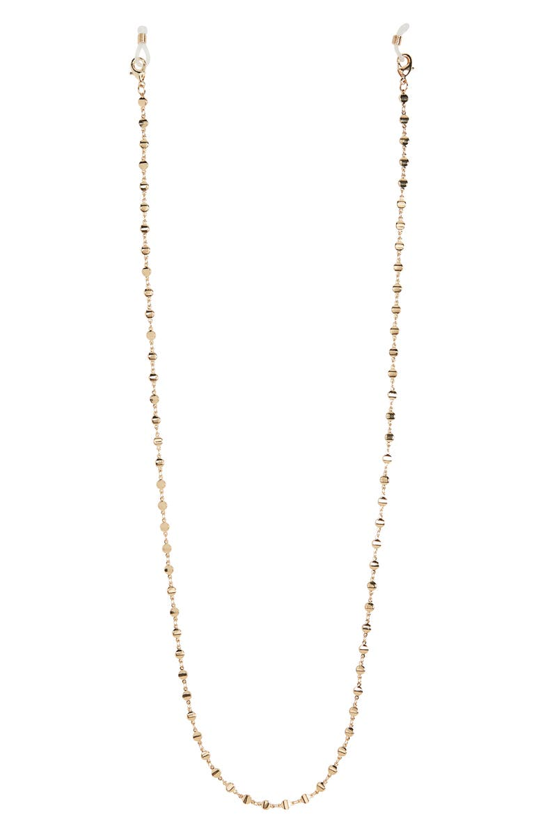 NORDSTROM Halogen<sup>®</sup> Metal Disc Adult Face Mask Chain, Main, color, GOLD