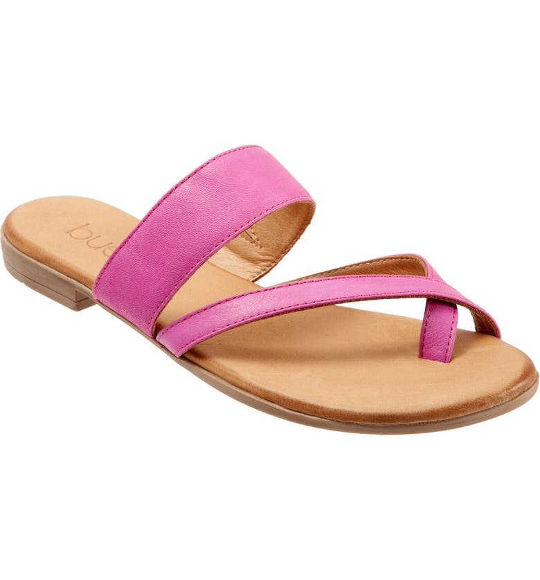 BUENO Jackson Toe Strap Slide Sandal, Main, color, FUCHSIA LEATHER