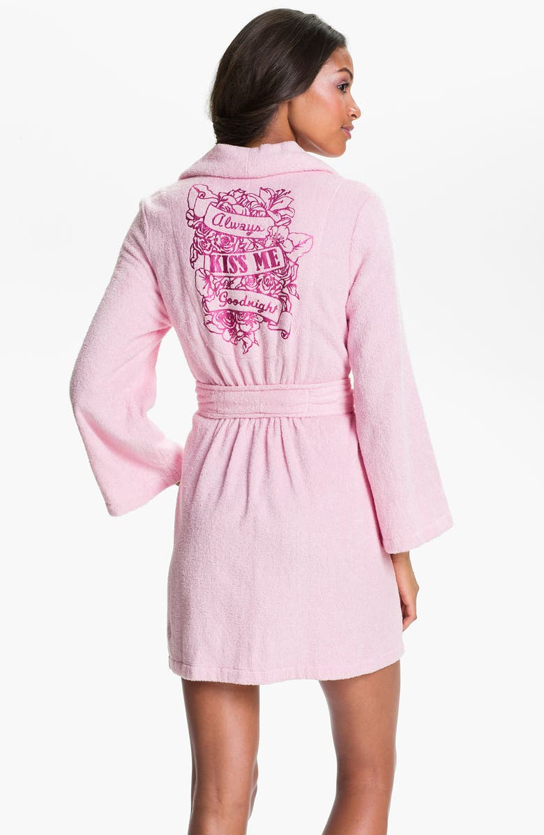 BETSEY JOHNSON Printed Terry Robe, Main, color, COTTON CANDY