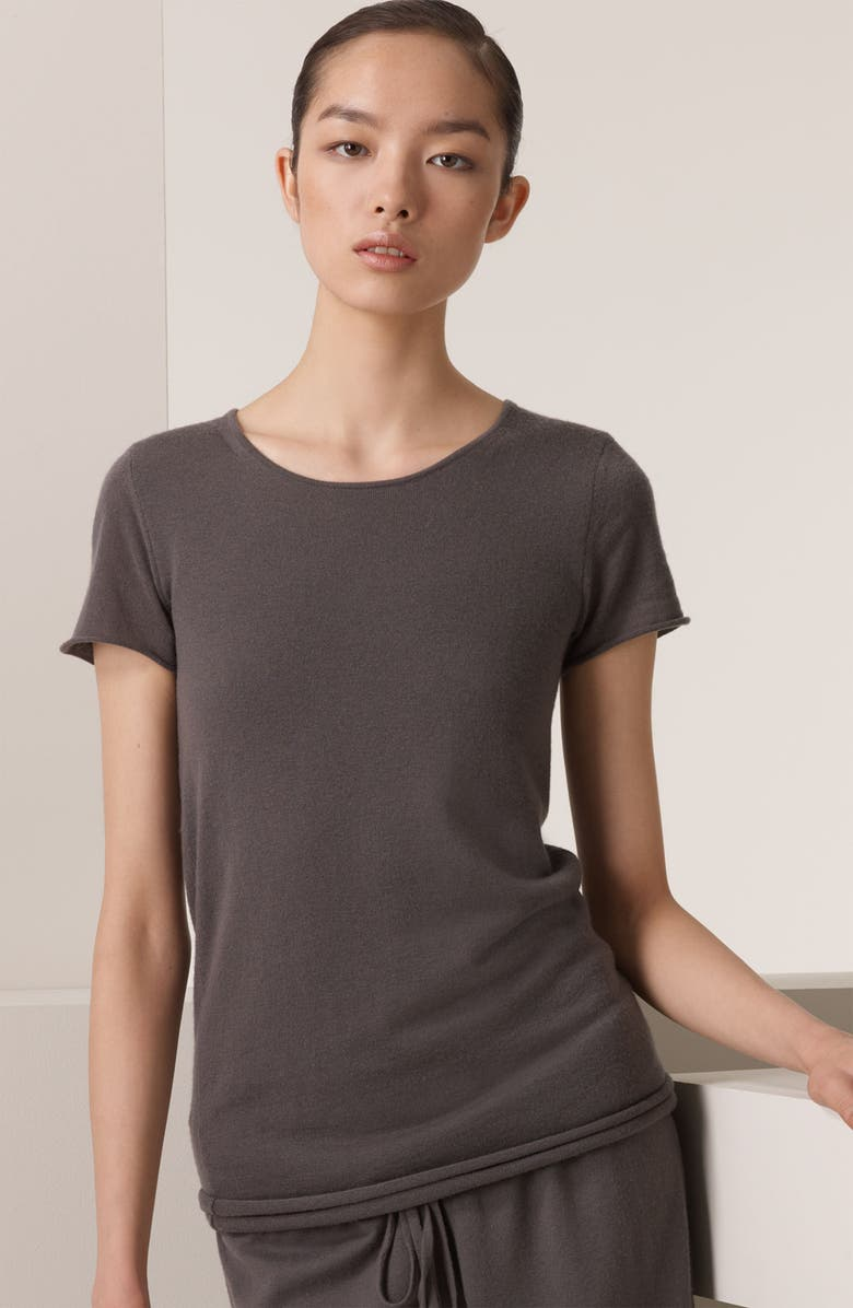 DONNA KARAN NEW YORK Double Layer Cashmere Tee, Main, color, 039