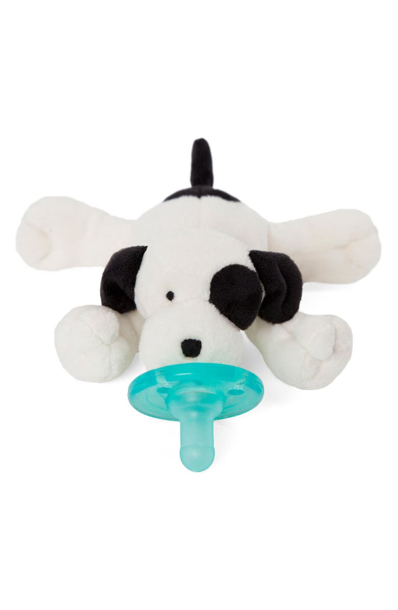 WUBBANUB<SUP>™</SUP> Puppy Pacifier Toy, Main, color, IVORY/ BLACK