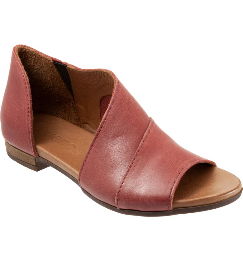 BUENO Tanner Sandal, Main, color, RED LEATHER