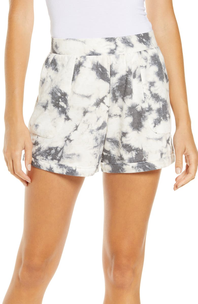 REFINERY29 Double Knit Lounge Shorts, Main, color, 011