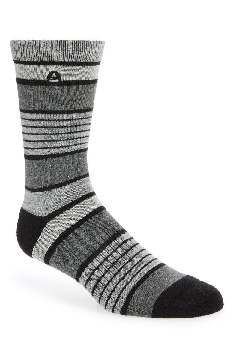 TRAVISMATHEW Down the Pub Crew Socks, Main, color, Black