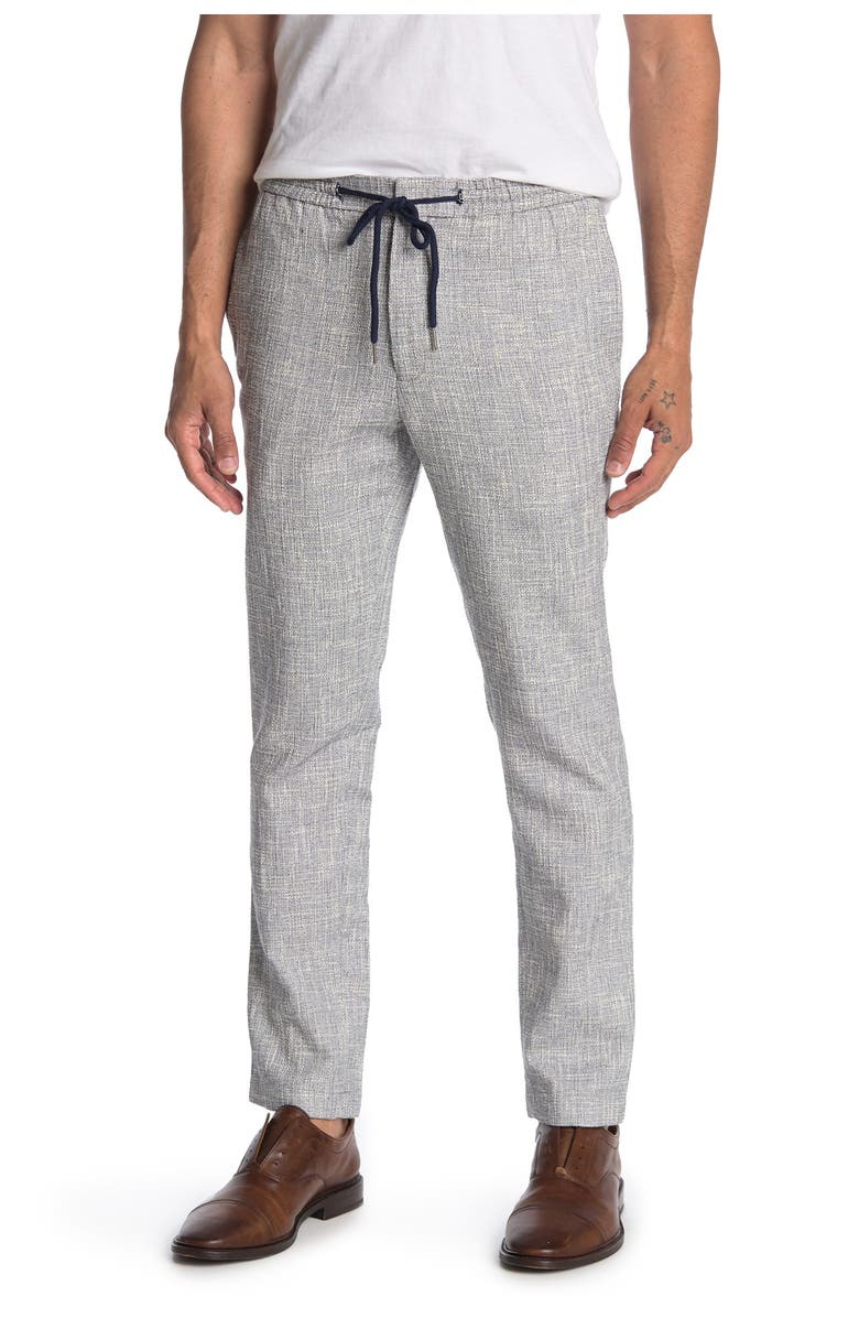 PAISLEY AND GRAY Basketweave Heathered Slim FIt Pants, Main, color, NAVY CREAM