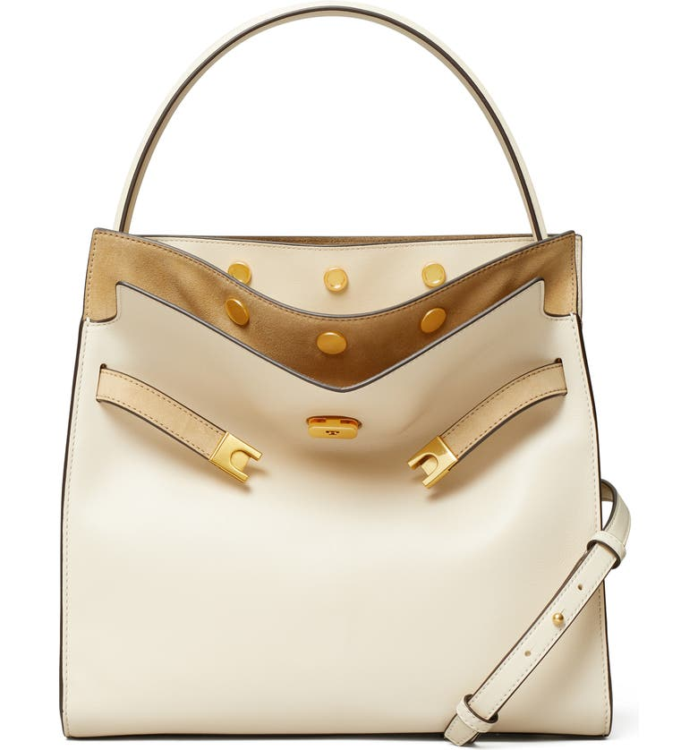 TORY BURCH Lee Radziwill Leather Double Bag, Main, color, 900