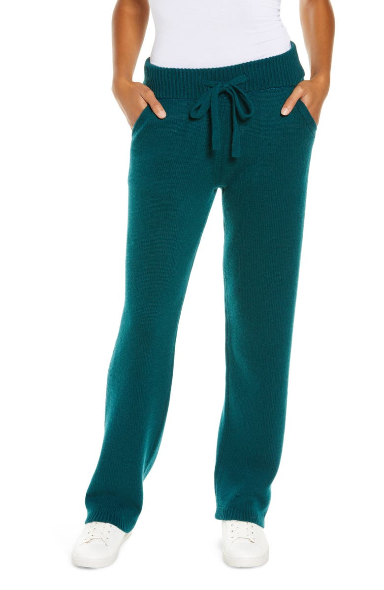 UGG<SUP>®</SUP> Aida Cashmere Blend Joggers, Main, color, TURQUOISE