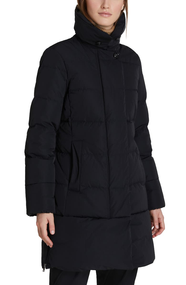 WOOLRICH Vail Water Repellent Quilted Down Coat, Main, color, Black
